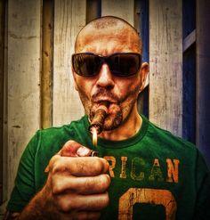 Smoker by Jacek Moszej, via Behance
