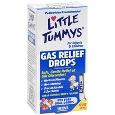 Little Tummys Gas Relief Drops. These things are great at relieving tummy pains.