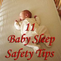 Baby sleep safety tips from the American Academy of Pediatrics #babysleeptips