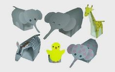 PAPERMAU: Easy-To-Build Jungle Animals Paper Toys - by Zo-Kun