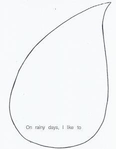 cloud-raindrop template | Month of March Ideas-Cloud-Rain-Wind ...
