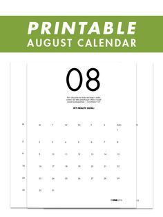 August 2015 Printable Health Calendar | Veva Health