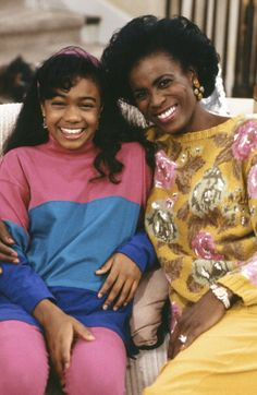 Tatiyana Ali and Janet Whitten Hubert - Fresh Prince of Bel Air