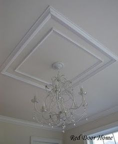 Looking for coffered ceiling design ideas and photos? Access the largest collection of coffered ceiling from top interior designers. Molding Ceiling, Ceiling Trim, Ceiling Design, Ceiling Ideas, Ceiling Detail, Ceiling Decor, Ceiling Fan, Baseboard Styles, Faux Tin Ceiling Tiles
