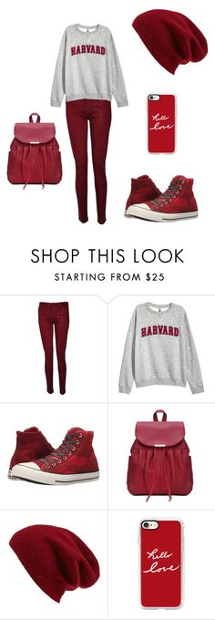 Red by mar7u on Polyvore featuring interior, interiors, interior design, hogar, home decor, interior decorating, H&M, Hudson, Converse and Halogen