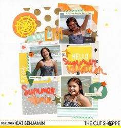 """The Cut Shoppe: """"Hello Summer Vacation"""" by Kat Benjamin uses """"Let's Do Summer"""" cut file."""