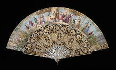 Fan 1860, Spanish, Made of mother-of-pearl