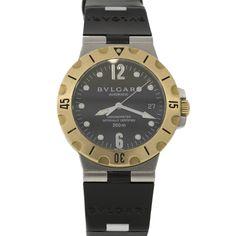 Pre-Owned Bvlgari Unisex Two-Tone Diagono Scuba Bvlgari, Luxury Jewelry, Gold Watch, Jewelry Watches, Unisex, Vintage, Accessories, Vintage Comics, Primitive