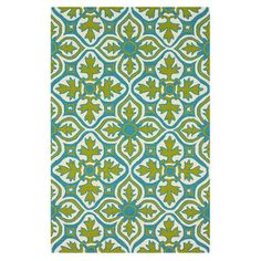 Anchor your patio furniture or bring a pop of pattern to your foyer with this versatile indoor/outdoor rug, showcasing a striking tile-inspired motif.