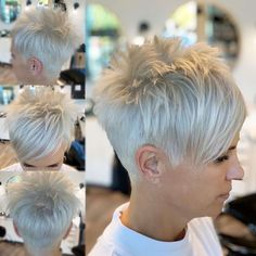 Edgy Short Hair, Short Hair Trends, How To Curl Short Hair, Super Short Hair, Short Hair With Layers, Short Hair Cuts For Women, Curly Short, Short Spiky Hairstyles, Short Pixie Haircuts
