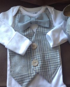 Gregory -Baby Boy Clothes- Newborn - Infant Bow Tie Vest - Photo Prop- Baby Shower Gift- Wedding Outfit- Ring Bearer-Christol and Company