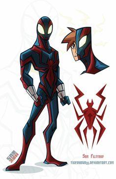 Spider-Man costume redesign By Tigerhawk01