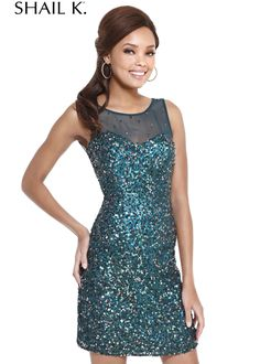 Shail K. 3661 Sequin Fitted Cocktail Dress