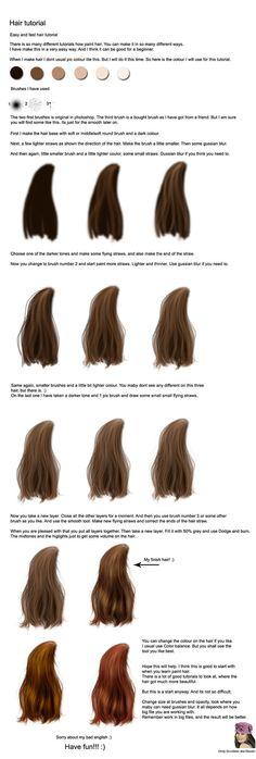 Hair tutorial by =CindysArt on deviantART