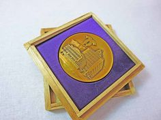 Vintage Collectible Medal from the City of Kobe Japan, Bronze Token, Solid Bronze Medallion, Japanese Collectible, Kobe Japan