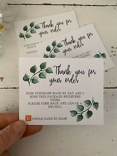 10 Pack Hand Crafted And Personalised Thank You For Your Order Cards Candle Packaging, Candle Labels, Packaging Ideas, Small Business Cards, Business Thank You Cards, Etsy Business, Craft Business, Cute Compliments, Cake Branding