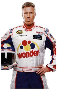 A great poster of Will Ferrell as hilarious NASCAR racer Ricky Bobby from the comedy movie Talladega Nights! Ships faster than a lap at the Daytona 500! 11x17 inches. Need Poster Mounts..?