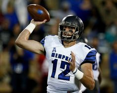 Memphis quarterback Paxton Lynch (12) passes in the first quarter of an NCAA college football game against Tulsa in Tulsa, Okla., Friday, Oct. 23, 2015. Photo: Sue Ogrocki, AP / AP