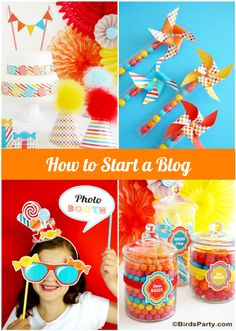How to Start Your Own Party Blog in 3 Easy Steps #blog #blogger #howto