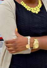 """Believe"" Pearl Stretch Bracelet | Inspirational Bracelet"