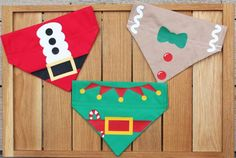 This listing is for ONE Santa Paws Christmas Dog Bandana/Cat Bandana in the Costume Chien, Dog Accesories, Diy Dog Collar, Cat Bandana, Dog Clothes Patterns, Christmas Accessories, Pet Boutique, Dog Crafts, Dog Items