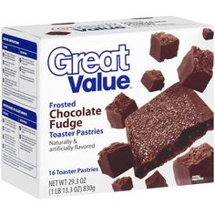 Great Value Frosted Chocolate Fudge Toaster Pastries, 16ct