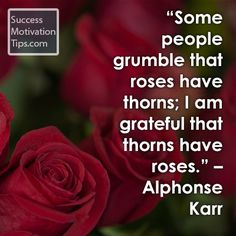 """""""Some people grumble that roses have thorns; I am grateful that thorns have roses. Inspirational Thank You Quotes, I Am Grateful, Spiritual Inspiration, Be Yourself Quotes, Archive, Words, Rose, People, Pink"""