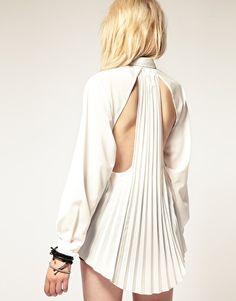 stylestalker Open Back Pleated Shirt $163.77