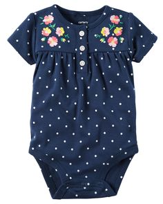 $6 for spring? Baby Girl Floral Polka Dot Bodysuit | Carters.com