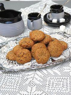 Kókuszos mandulakeksz Paleo Recipes, Dog Food Recipes, Pavlova, Muffin, Food And Drink, Gluten Free, Breakfast, Tej, Biscotti