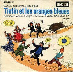 Tintin et les oranges bleues - B.O.F. dessin de HERGÉ