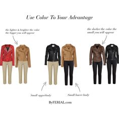 """a generalization but helpful - """"Use Color To Your Advantage"""" by ferialyouakim on Polyvore"""