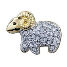 Pugster Argali Sheep Brooch And Pin Pugster. $10.70. Can be pinned on your gown or fastened in your hair with bobby pins.. Exquisitely detailed designer style with Swarovski cystal element.. One free elegant cushioned Gift box available with every order from Pugster.. Occasion: casual wear,anniversary, bridal, cocktail party, wedding. Money-back Satisfaction Guarantee.