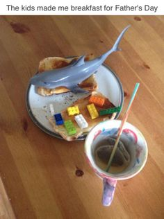 """These kids and their Father's Day breakfast. 