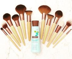 ecotools brushes. They are the best brushes I have ever used.    Thanks @rebekahbaines for the shout out!  https://www.ecotools.com/