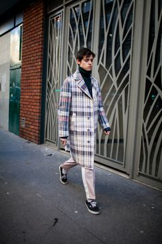 Street style at Paris Fashion Week Men's fall 2017.