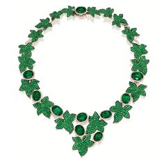 EMERALD AND DIAMOND 'IVY' NECKLACE, Michele della Valle   collar pulsera perlas swarovski joyeria necklace bracelet pearls crystal jewelry  http://iaguirreb.wix.com/deperlas#!blank-2/c1ger