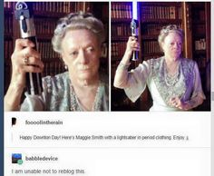 Dame Maggie Smith is having none of your shit. Maggie Smith, Tumblr Funny, Funny Memes, Hilarious, Tumblr Stuff, Tumblr Posts, Haha, Fandoms, Thats The Way