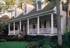 Elevation of Cape Cod Colonial Farmhouse Southern House Plan 86222 - Front Porches Today House Plans, Colonial Farmhouse, Modern Farmhouse, House Exterior, Southern Homes, Cape Cod House, Porch Landscaping, Southern House Plan, Farmhouse Landscaping