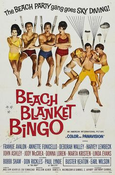 1965 Beach Blanket Bingo Annette Funicello and Frankie Avalon vintage 1960s movie poster by Christian Montone, via Flickr