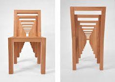 sillas de fibra de vidrio con ilusiones opticas - Buscar con Google