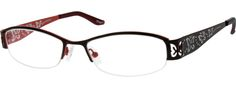 Women's Black 7918 Stainless Steel Half-Rim Frame | Zenni Optical Glasses-dh0NSmHk