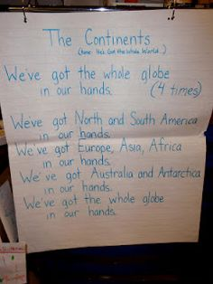 Great for teaching the 7 continents!  Earth Unit  change back to Gods got the whole world in HIs hands!!!!!!!!!!!!!!!  Glad it's not in ours!