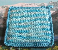 0435 Double thick 7.5 by 7.5 cotton Hot pad by LandLCandlesandCraft on Etsy                                                                                                                                                                                 More