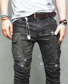 Mens Real Vintage Oil Wash Rugged Camo Cargo-Pants 130 | Fast Fashion Mens Clothes Online GUYLOOK.COM
