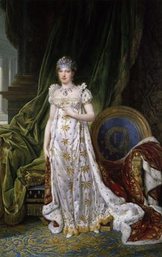 Marie Louise wearing the Ruby and Diamond Parure, including the Nitot diadem.