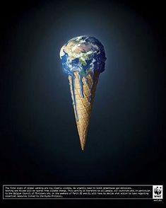 Pubblicità progresso del WWF sul riscaldamento globale. Save Mother Earth, Save Our Earth, Love The Earth, Slogan Design, Graphic Design Posters, Ad Design, Global Warming Poster, Earth Poster, Save Environment