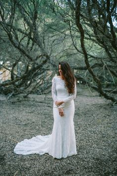 A long-sleeved Mariana Hardwick wedding gown   I Take You #weddingdress #fashion