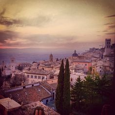 Assisi, Italy at Sunset