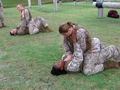 Package about a female Marine Martial Arts Instructor Includes sound bites from Sgt Julia Henley MCMAP Instructor